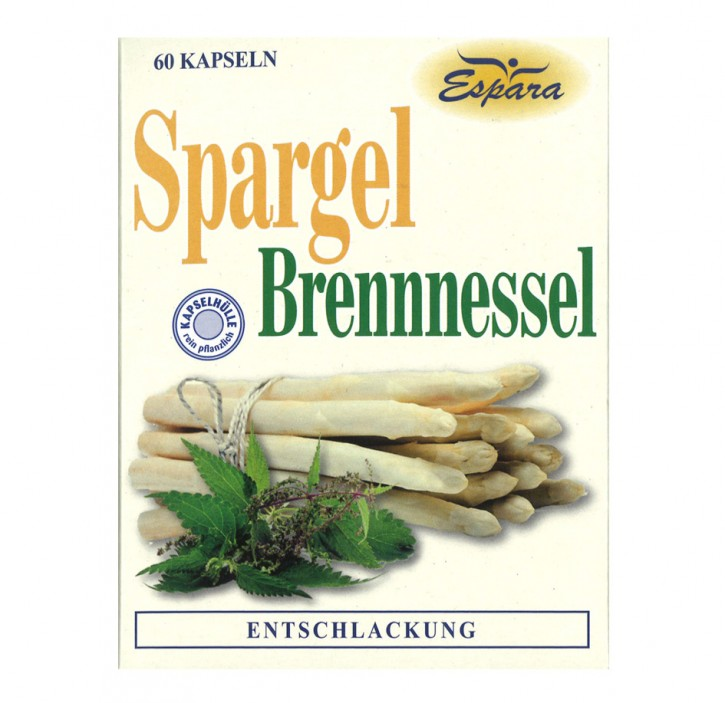 SPARGEL BRENNESSEL KAPSELN Espara 60Stk