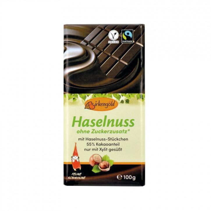 Schokolade Haselnuss Birkengold 100g