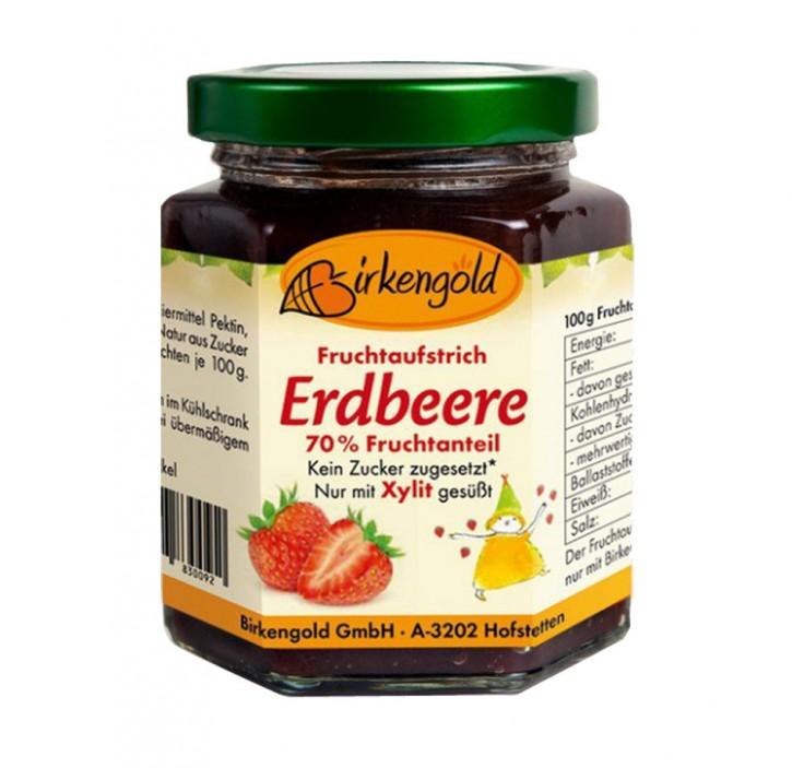 Fruchtaufstrich Erdbeere Birkengold 200g