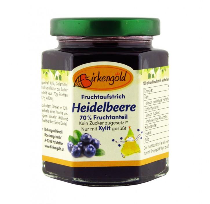 Fruchtaufstrich Heidelbeere Birkengold , 200g