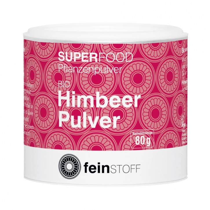 Feinstoff Himbeer-Pulver Bio 80g