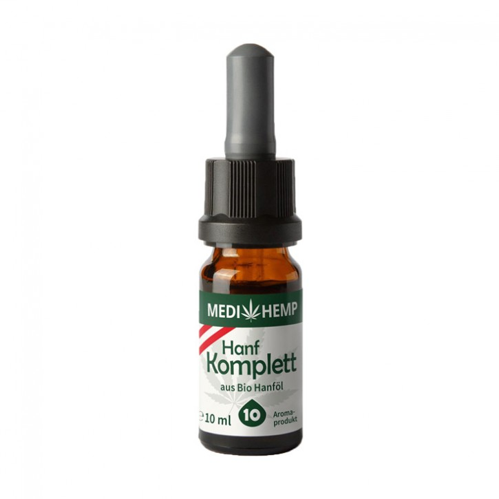 Bio Hanf komplett Aroma 10% ~1000mg CBD 10ml Medihemp