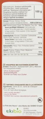 Knusprige Bio Kastanie-Schnitten, 150g Blumenbrot
