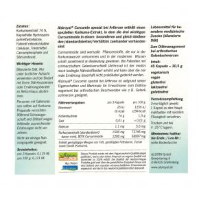 Curcumin spezial bei Arthrose 45Stk. Alsiroyal