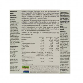 Schwarzer Holunder Immunschutz FORTE Kapseln 30 Stk. Alsiroyal