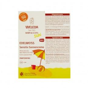 Edelweiß Sensitiv Sonnencreme LSF 50 (Baby & Kids) 50ml Weleda