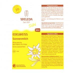 Edelweiß Sonnenmilch LSF 30 Weleda , 150ml