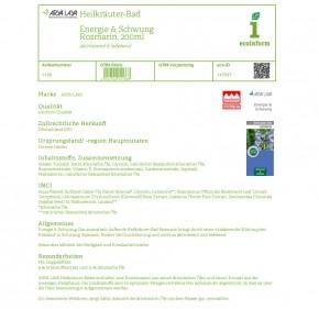 Heilkräuter-Bad Energie & Schwung Rosmarin, 200ml