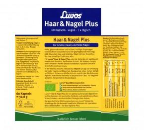 Luvos Haar & Nagel Plus Bio für schöne Haare und Nägel, 60St