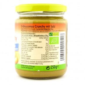 Erdnussmus Crunchy mit Salz bio, 250g