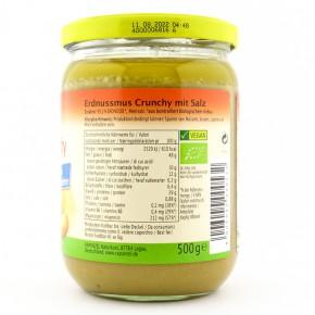 Erdnussmus Crunchy mit Salz bio 500g Rapunzel