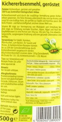 Kicherebsenmehl bio geröstet Rapunzel 500g