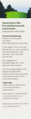 Löwenzahnsaft bio Schöneberger 200ml