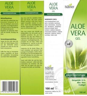 Aloe Vera Gel Hübner 100ml