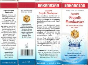 Aagaard Propolis Mundwasser 50ml Bakanasan