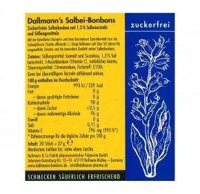 Dallmann's Salbei-Bonbons zuckerfrei, 37,5g