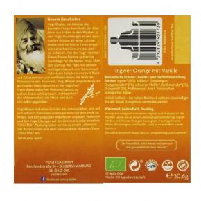 Bio Ingwer Orange mit Vanille 17 Btl. Yogi Tea