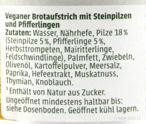 STEINPILZ PFIFFERLING AUFSTRICH Grano Vita 125g