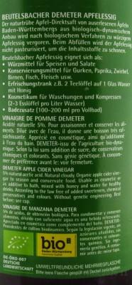 Apfelessig bio Demeter Beutelsbacher 0,75l