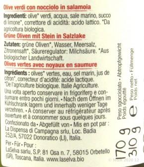 LaSelva OLIVEN GRÜN in Salzlake kbA 310g