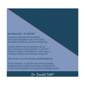 Basen Mineral Bad 1000g Dr.Ewald Töth