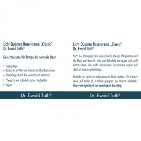 Basencreme Classic 50ml Dr.Ewald Töth