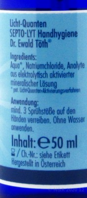 Septo-Lyht Handhygienespray 50ml