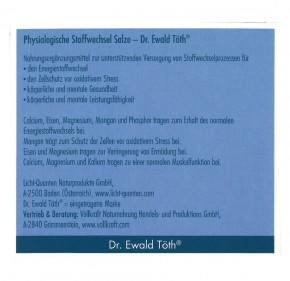 Physiologische Stoffwechselsalze  Dr.Ewald Töth 180 Kapseln