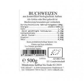 Bio Buchweizen 500g Vollkraft