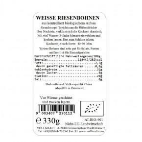 Weiße Riesenbohnen bio 330g Vollkraft