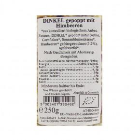 Dinkel gepoppt Himbeer bio 250g Vollkraft
