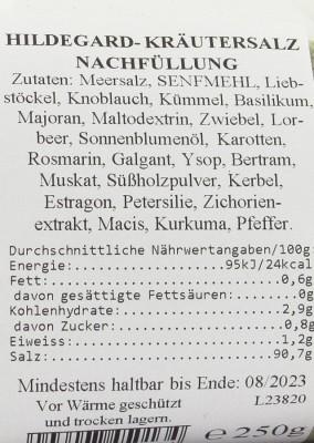 Kräutersalz nach Hildegard von Bingen Nachfüllung 250g