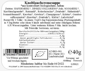 Knoblauchcremesuppe bio 40g Vollkraft