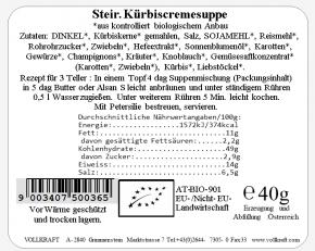 Steirische Kürbiskerncremesuppe bio 40g Vollkraft