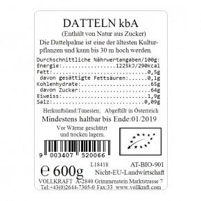 Datteln bio Box 600g Vollkraft