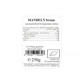Mandeln braun bio 250g Vollkraft