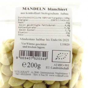Mandeln blanchiert bio 200g Vollkraft