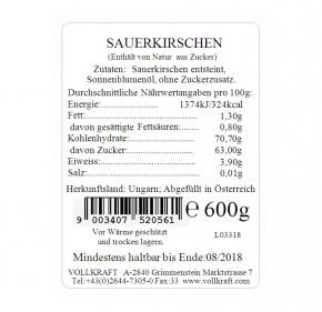 Box Sauerkirschen 600g Vollkraft