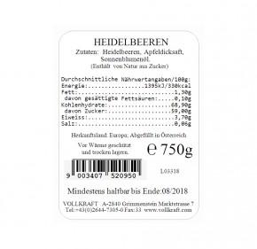 Box Heidelbeeren 750g Vollkraft
