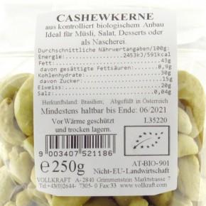 Cashewkerne bio 250g Vollkraft