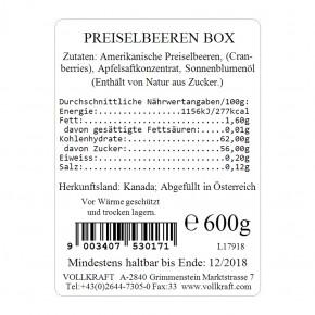 Preiselbeeren Box 600g Vollkraft