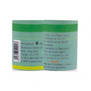 Stevia pur Pulver grün 40g Vollkraft