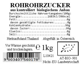 Rohrohrzucker bio 1kg Vollkraft