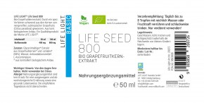 Life Seed 800 Bio-Grapefruitkern Extrakt 50ml Life Light