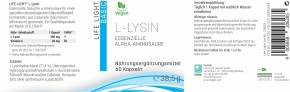 L-Lysin 500 mg 60 Kapseln Life Light