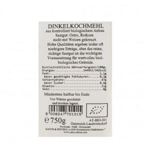 Dinkelkochmehl bio 750g Natur&Reform