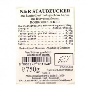 Bio Rohrstaubzucker 750g