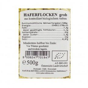 Bio Haferflocken grob 500g Natur & Reform