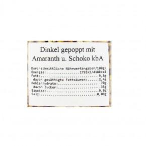 Bio Dinkel-Amaranth-Schoko gepoppt 330g Natur & Reform