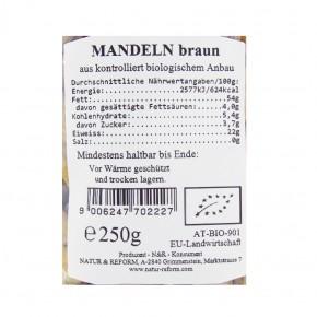 Mandeln braun bio 250g Natur & Reform